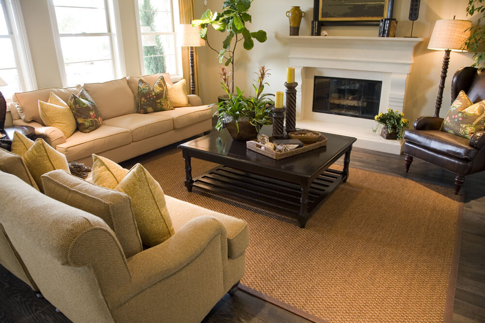 47 Beautifully Decorated Living Room Designs - beige couch living room
