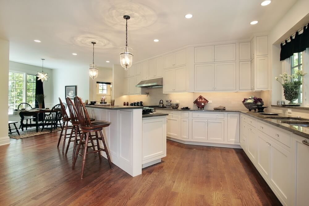 "Small Kitchens With Islands For Seating 36 ""brand New"" All White Kitchen Layouts & Designs (photos)"