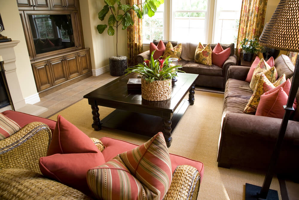 46 Swanky Living Room Design Ideas (MAKE IT BEAUTIFUL) - red and brown living room