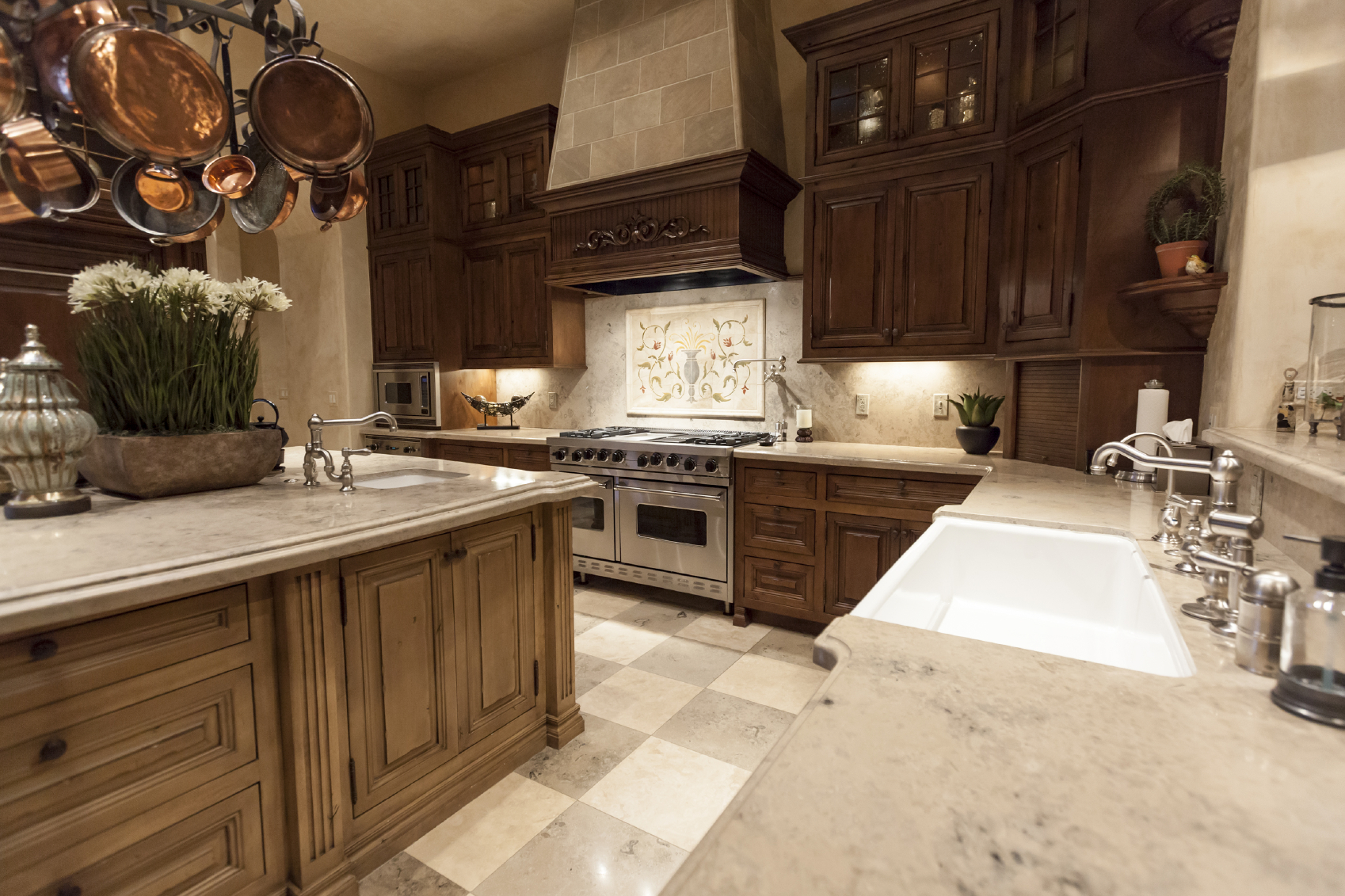 contemporary wood kitchens wood kitchen cabinets Large L shaped luxury dark wood kitchen with custom cabinets throughout