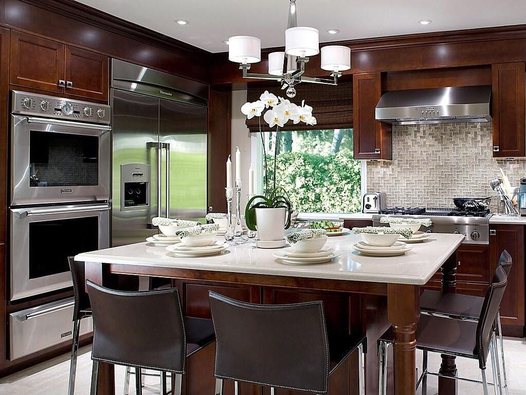 52 Dark Kitchens with Dark Wood and Black Kitchen Cabinets - kitchen backsplash ideas for dark cabinets