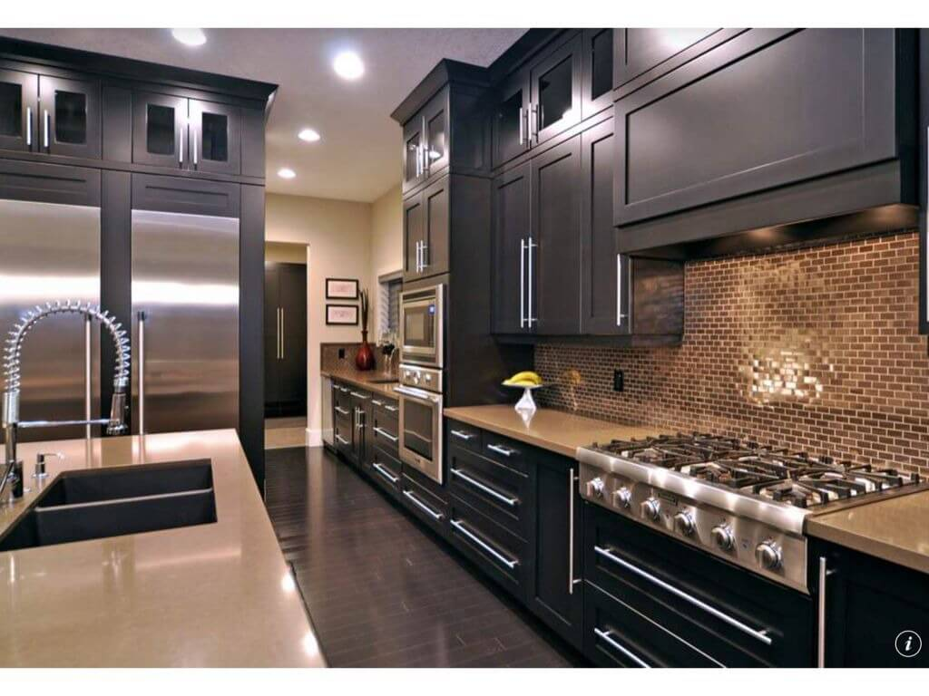 galley kitchen design ideas galley kitchen remodels Here s a dark galley kitchen that s relatively narrow
