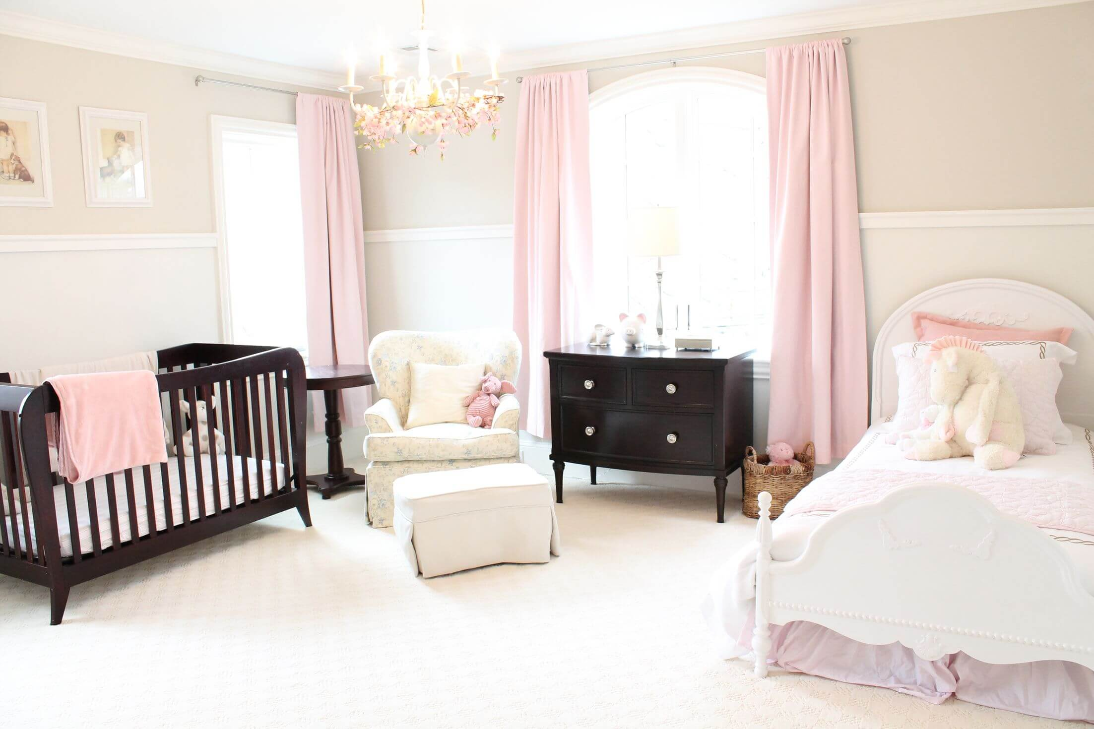 Pink And White Nursery Ideas 18 Baby Girl Nursery Ideas Themes And Designs Pictures