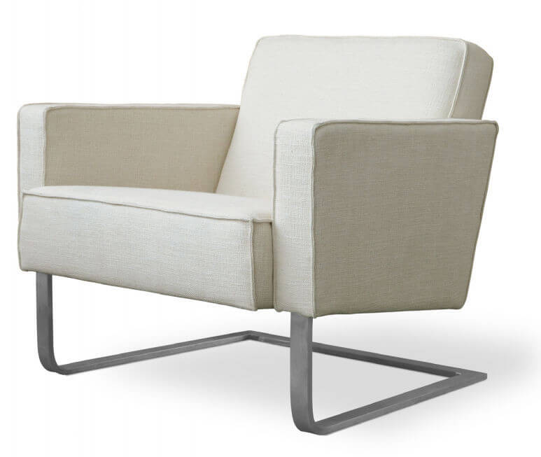 This club chair from gus modern features classic lines of upholstered
