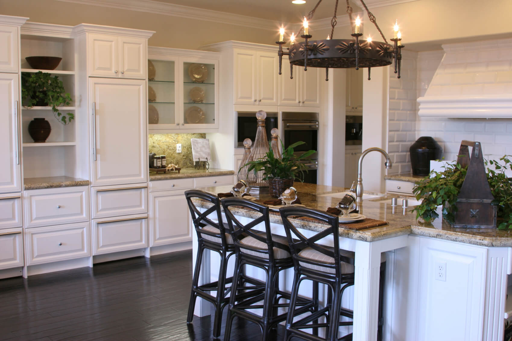 Kitchen Floor Ideas With Dark Cabinets 41 White Kitchen Interior Design And Decor Ideas Pictures