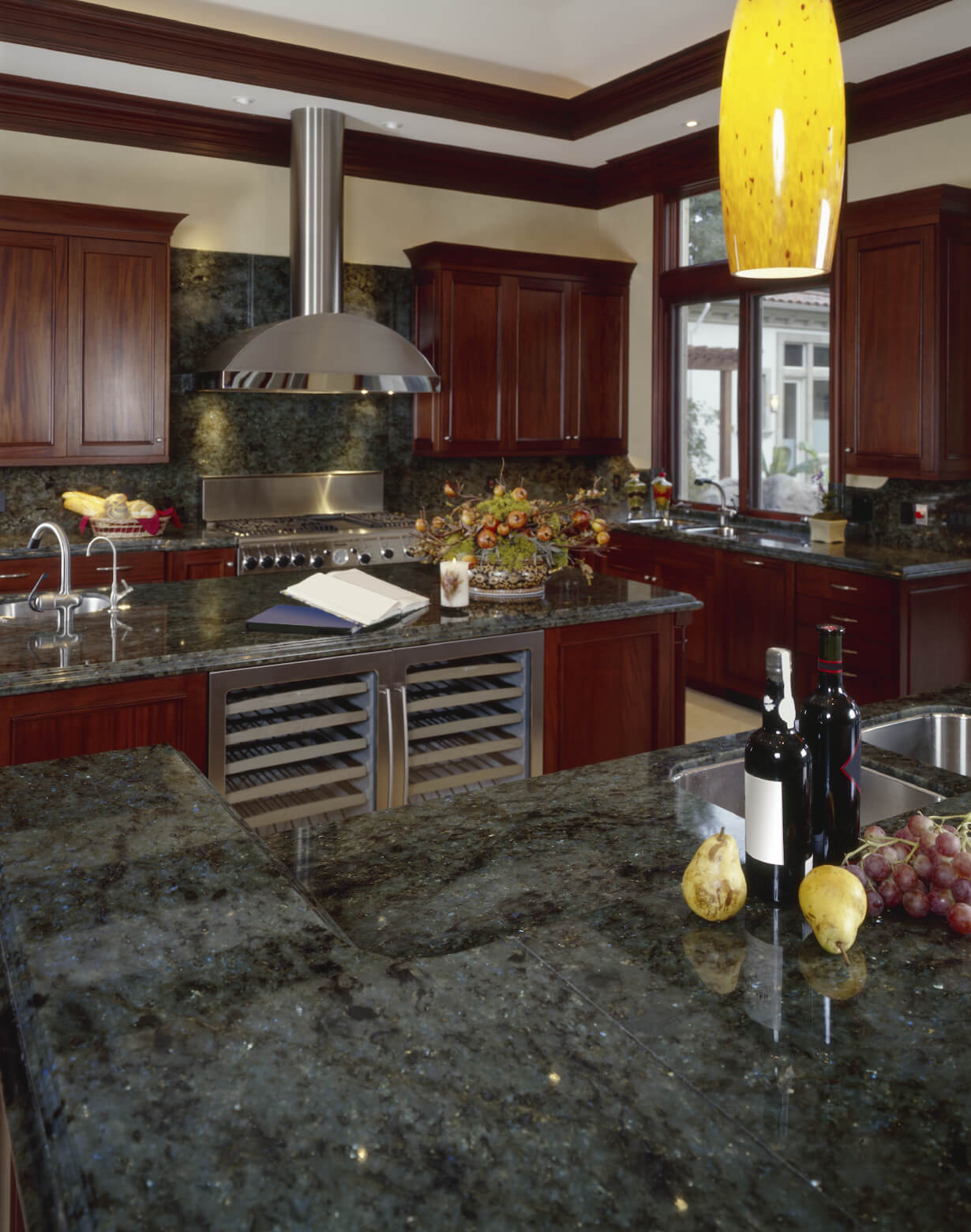 ... 40 Magnificent Kitchen Designs With Dark Cabinets Green Kitchen  Countertops Rich Dark Green Marble Countertops And ...