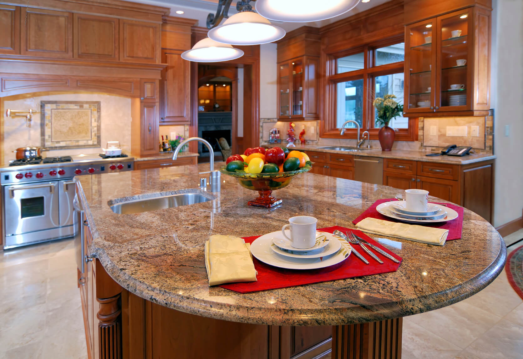 Kitchen Design With Round Island 84 Custom Luxury Kitchen Island Ideas And Designs Pictures
