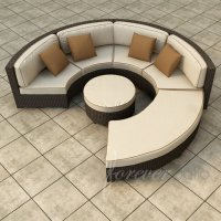25 Awesome Modern Brown All-Weather Outdoor Patio Sectionals