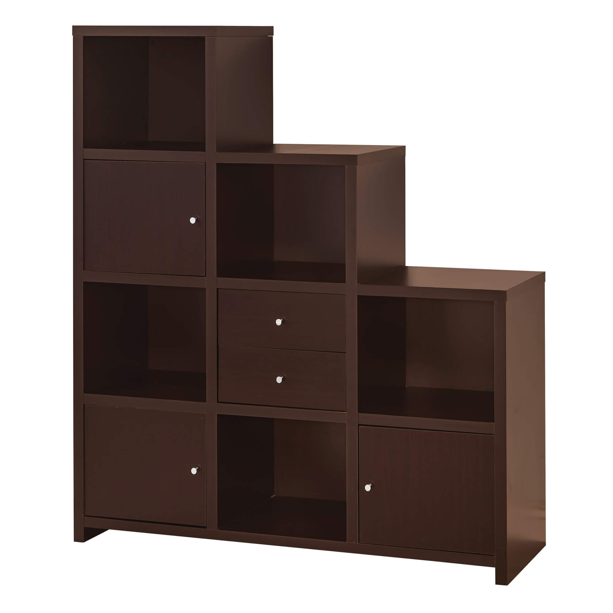 Stairs Shelving Twenty 9 Cube Bookcases Shelves And Storage Options