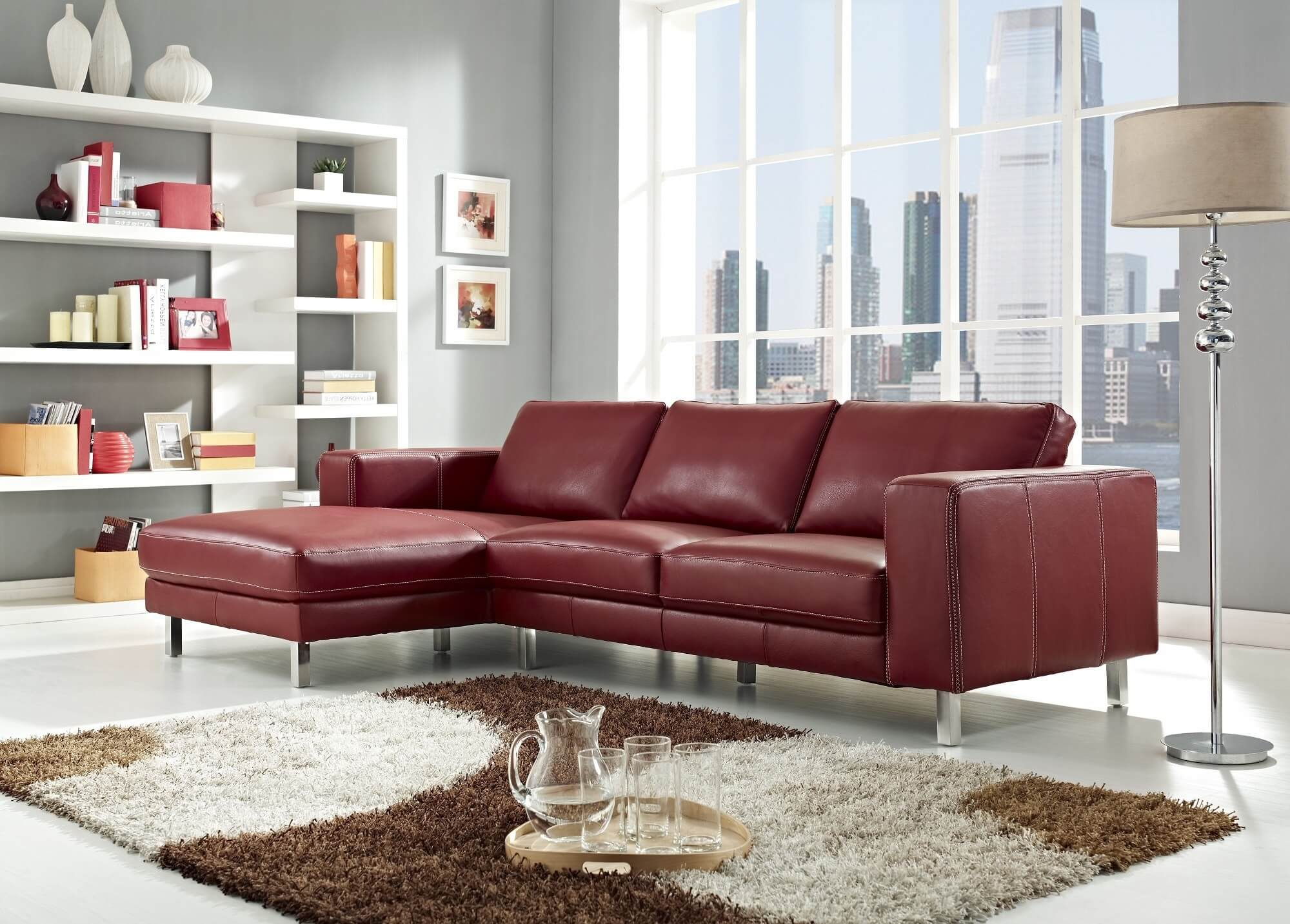 Small Sofas Under $500 18 Stylish Modern Red Sectional Sofas