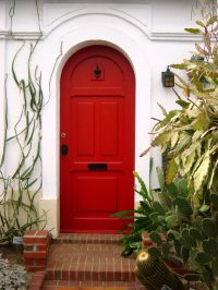 35 Different Red Front Doors (Many Designs & Pictures)