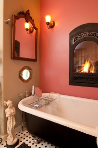 18 Master Bathrooms with Fireplaces (Pictures)