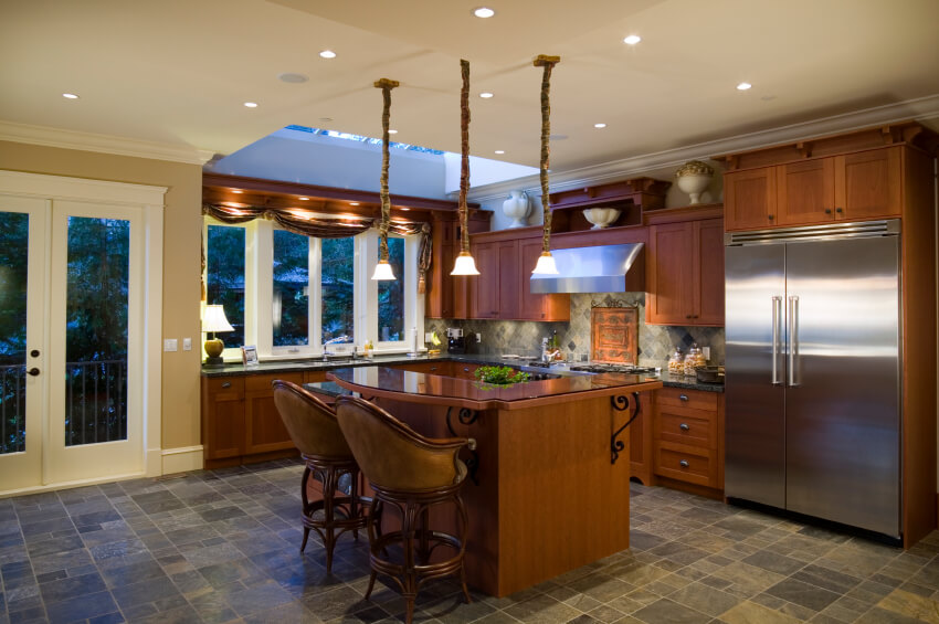 upscale small kitchen islands small kitchens small eat kitchen design photos multi colored backsplash