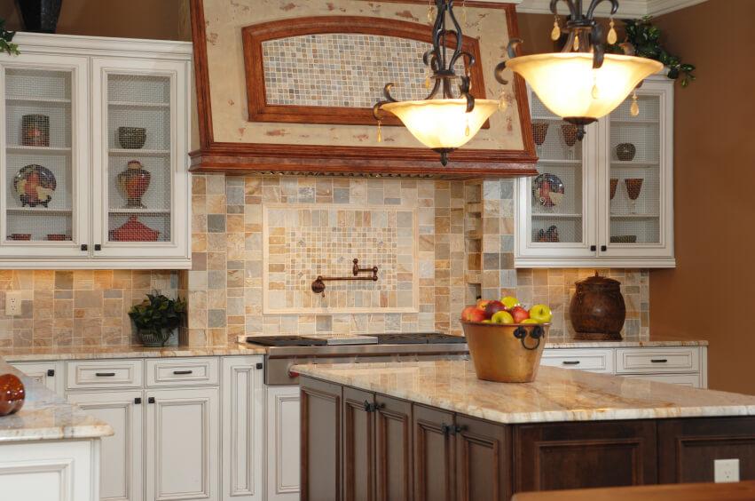 backsplash country kitchen stove glass splashes glass splashes ideas