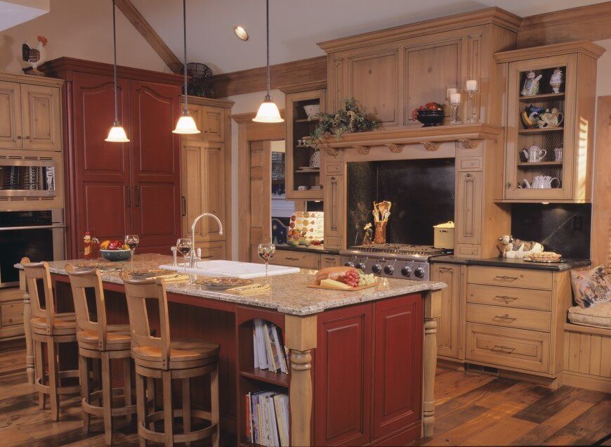 country kitchen splash bright muted red kitchen create country kitchen design ideas kitchen design ideas