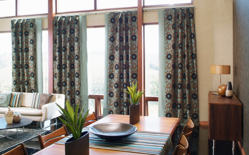 53 Living Rooms with Curtains and Drapes (Eclectic Variety) - turquoise curtains for living room