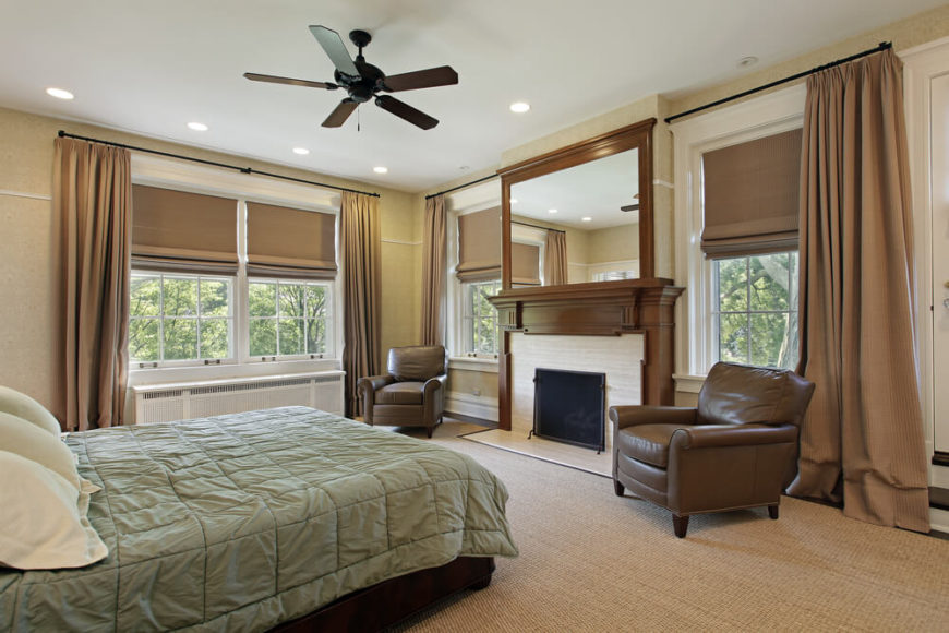 Wohnzimmer Fenster Couch 30 Glorious Bedrooms With A Ceiling Fan