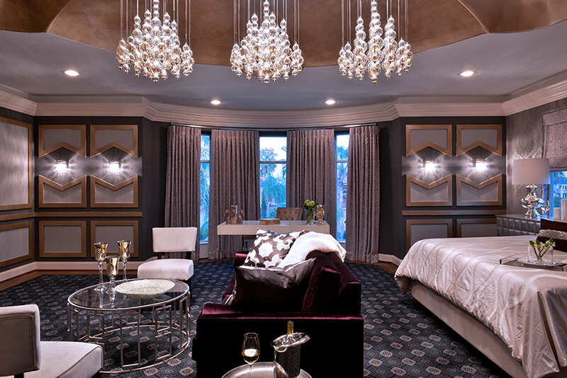 3d Wallpaper Designs For Bedrooms Sinfully Luxurious Vegas Glam Master Suite