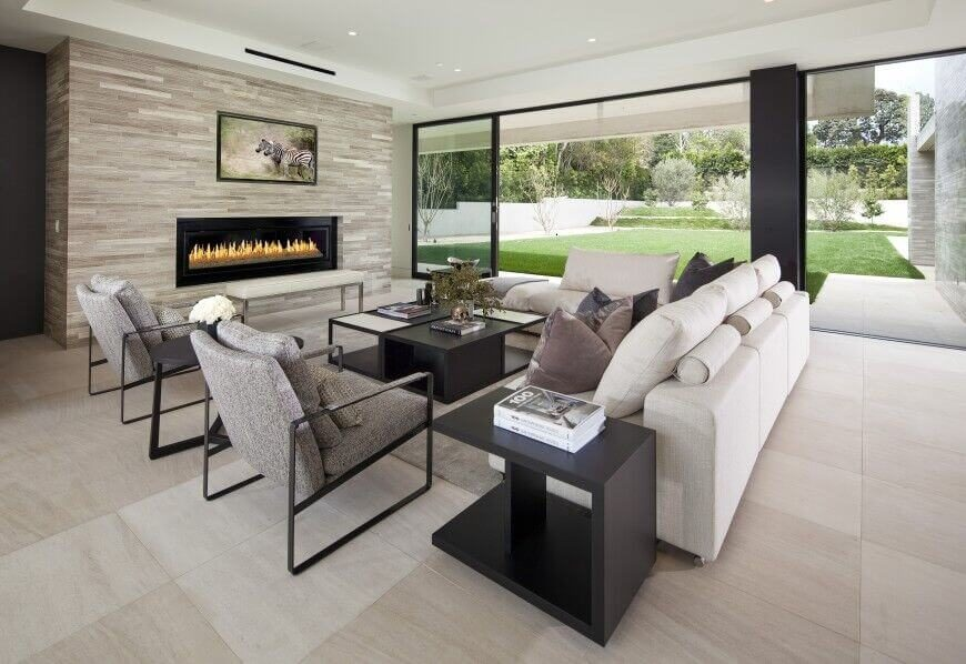 26 Gorgeous Living Rooms with White Furniture - white sectional living room