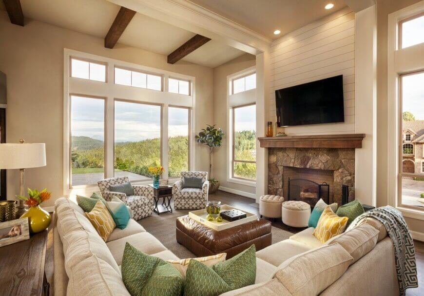 23 Spectacular Cottage Living Room Ideas - Home Stratosphere - cottage living room ideas