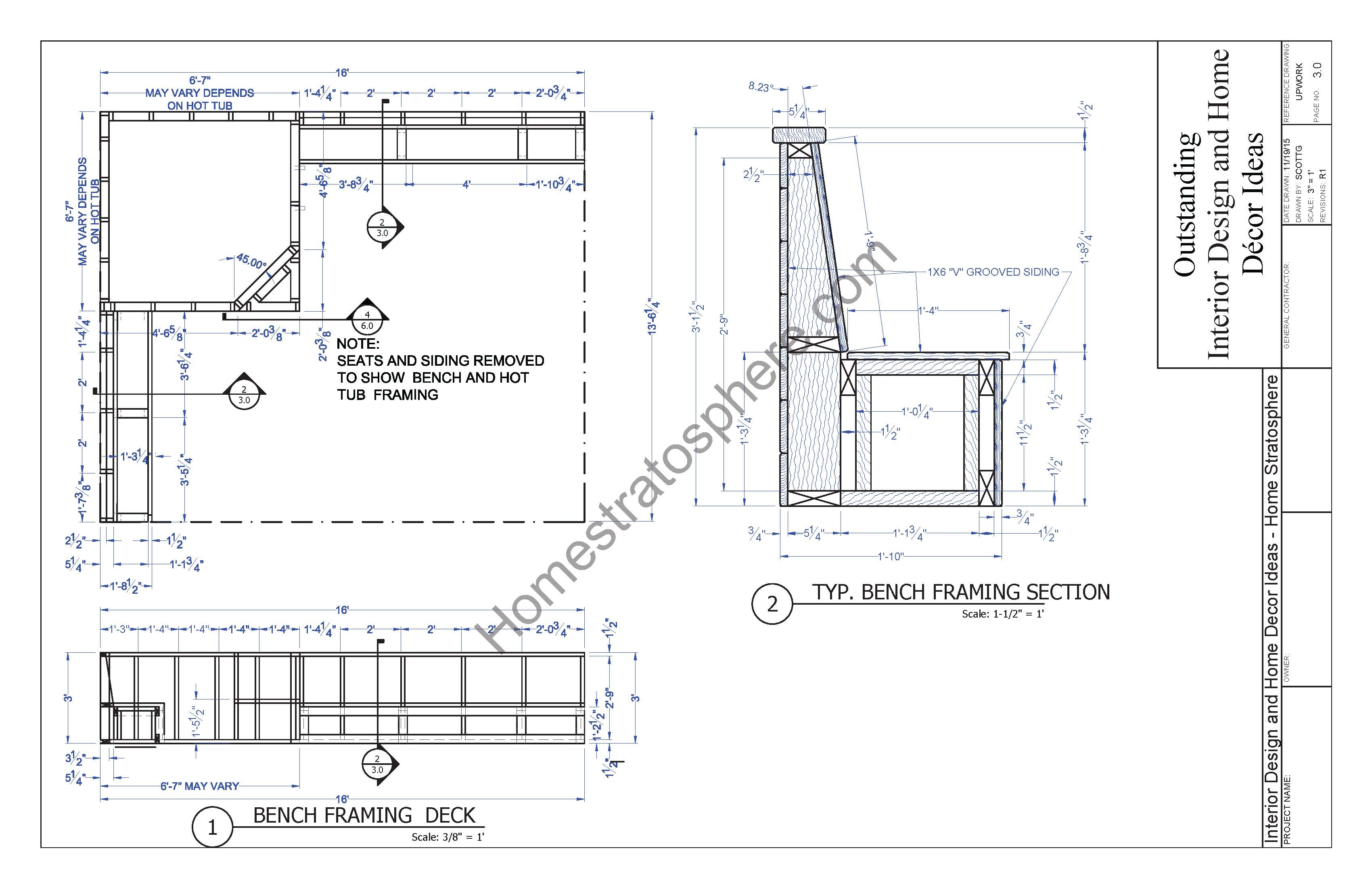Jacuzzi Pool Dimensions Hot Tub Deck Design Plan Free Pdf Download