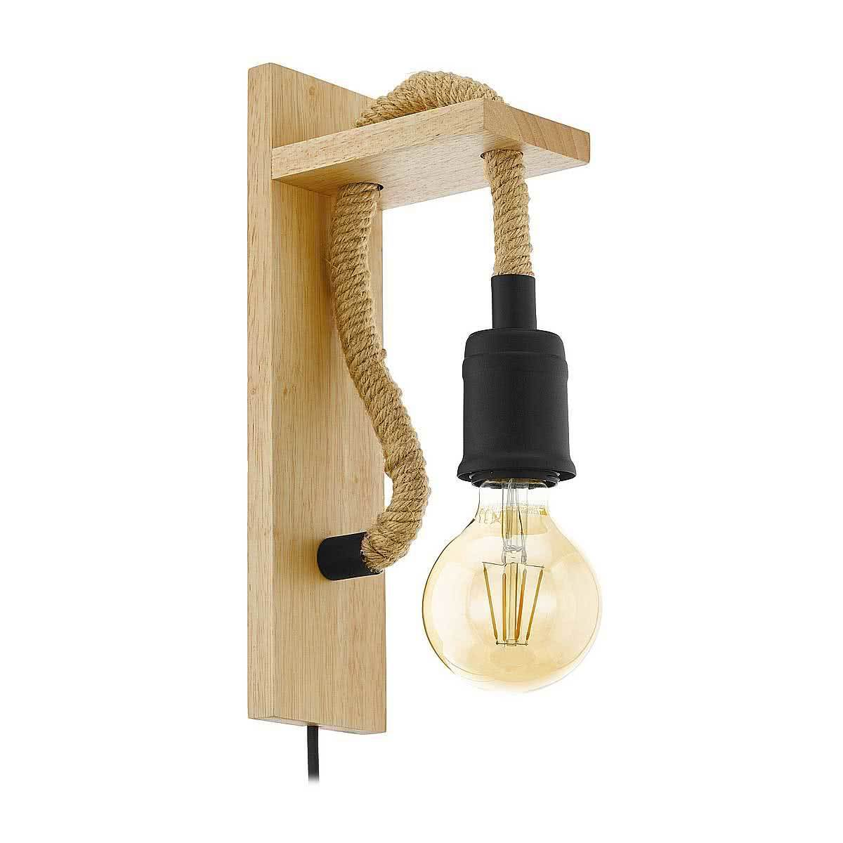 New Eglo Rampside Rustic Rope Wall Light Ebay