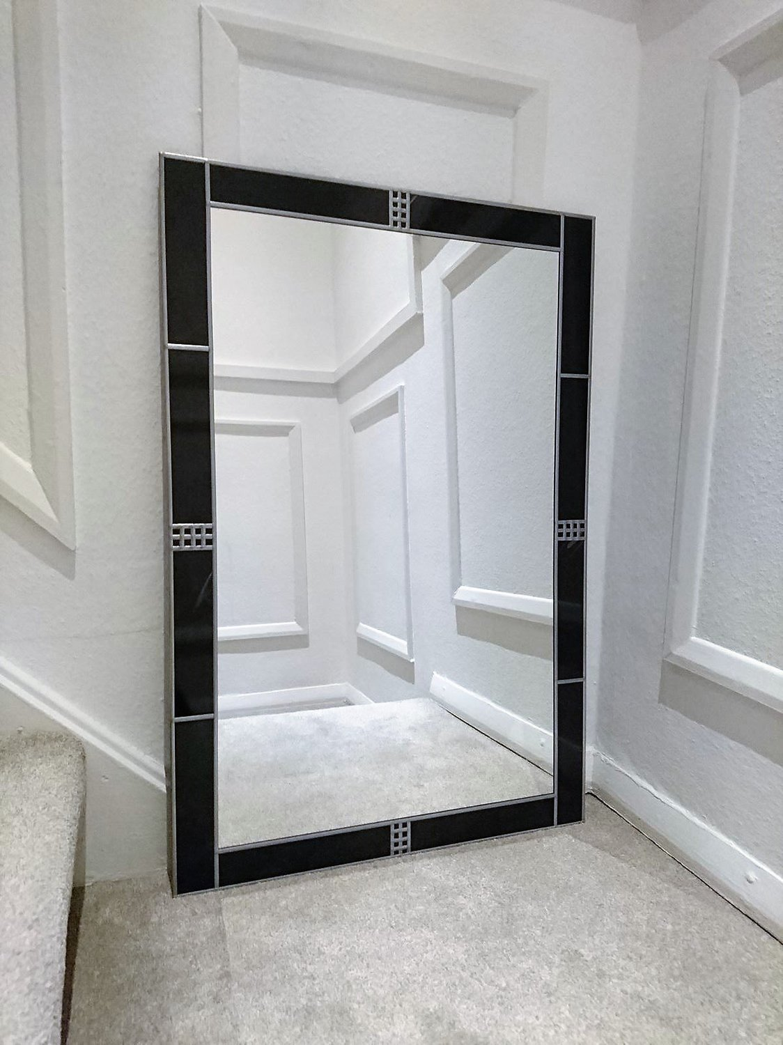 Art Deco Style Mirror Details About 91x61cm 2x3ft Black Frame Art Deco Large Wall Mirror Handmade In The Uk