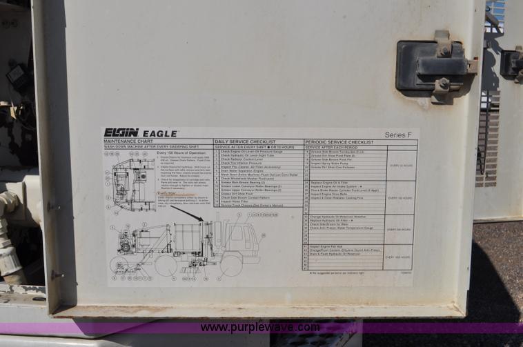 1999 GMC T7500 Elgin street sweeper Item F2050 SOLD! Aug