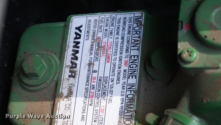 2007 John Deere 790 tractor and finish mower Item EJ9488