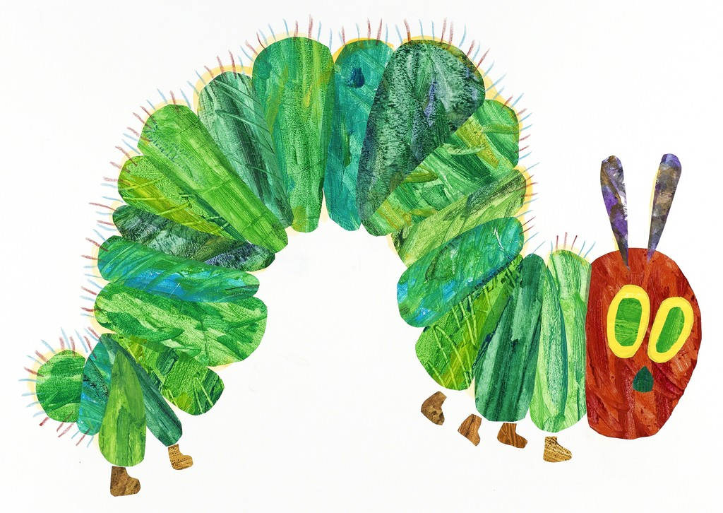 Eric Carle Illustration from \u201cThe Very Hungry Caterpillar\u201d (1969