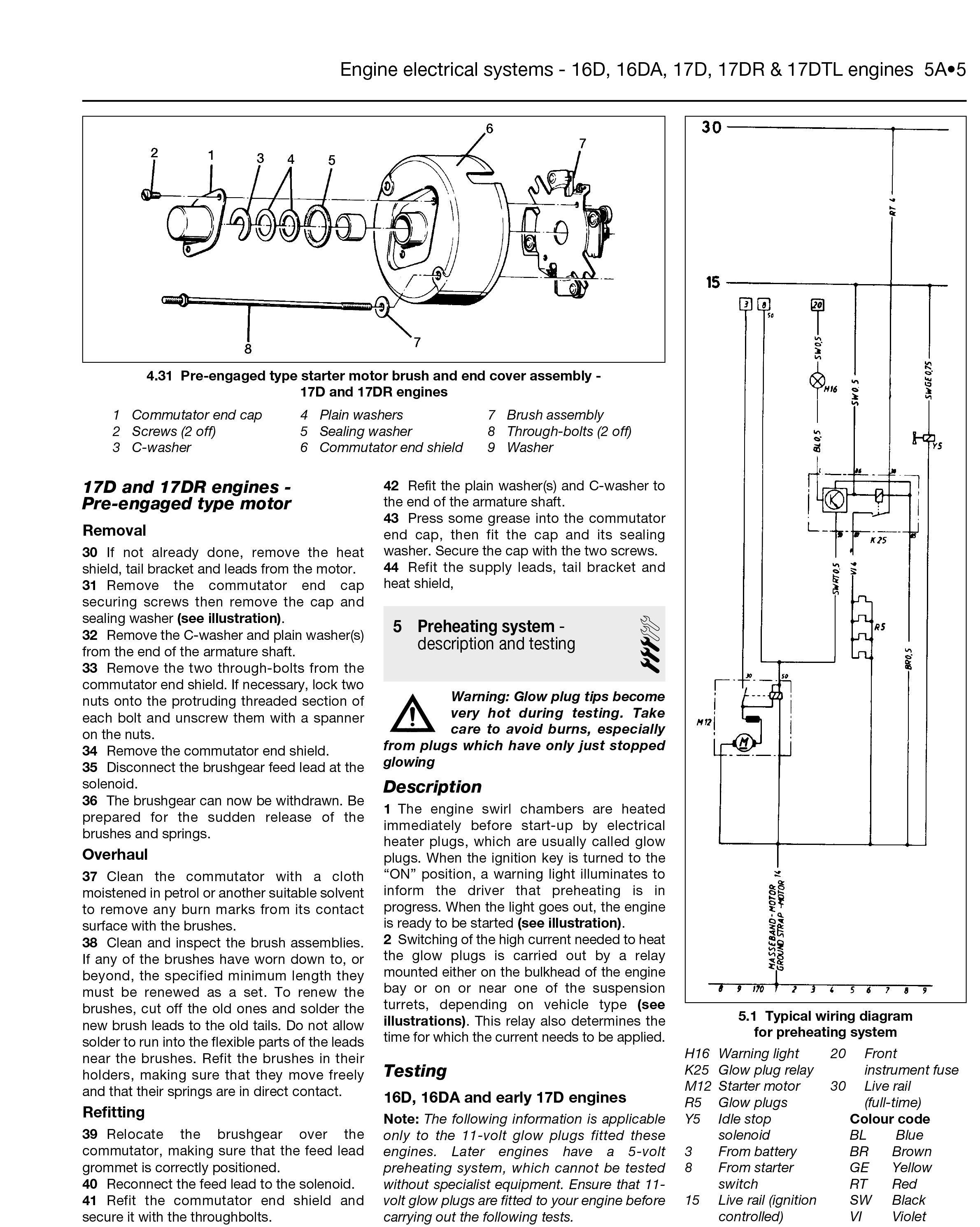 vauxhall start wiring diagram