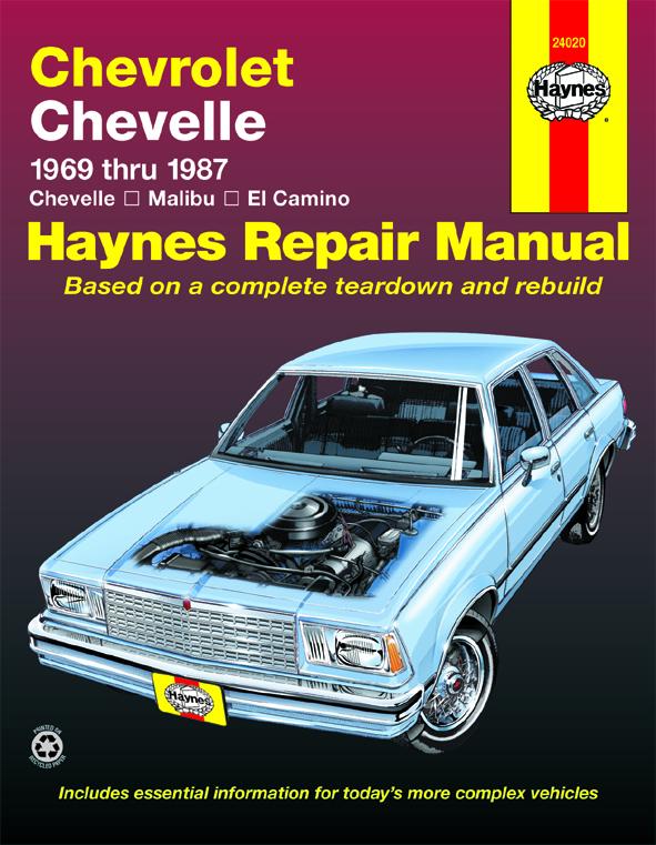 Chevrolet El Camino (1969 - 1987) Car Repair Manuals Haynes Manuals