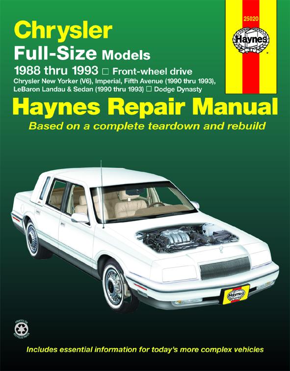 Dynasty Haynes Manuals