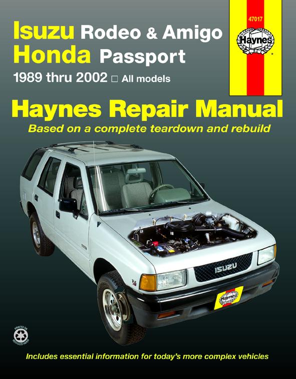 Amigo Haynes Manuals
