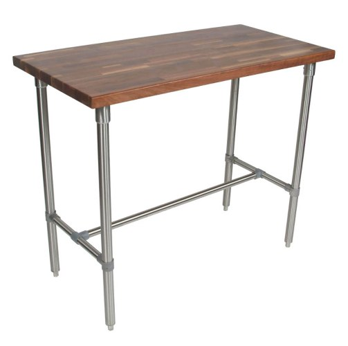 work table kitchen work table Boos Cucina Classico Walnut Stainless Steel Table 48