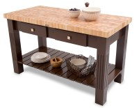 Maple End Grain Butcher Block Kitchen Island