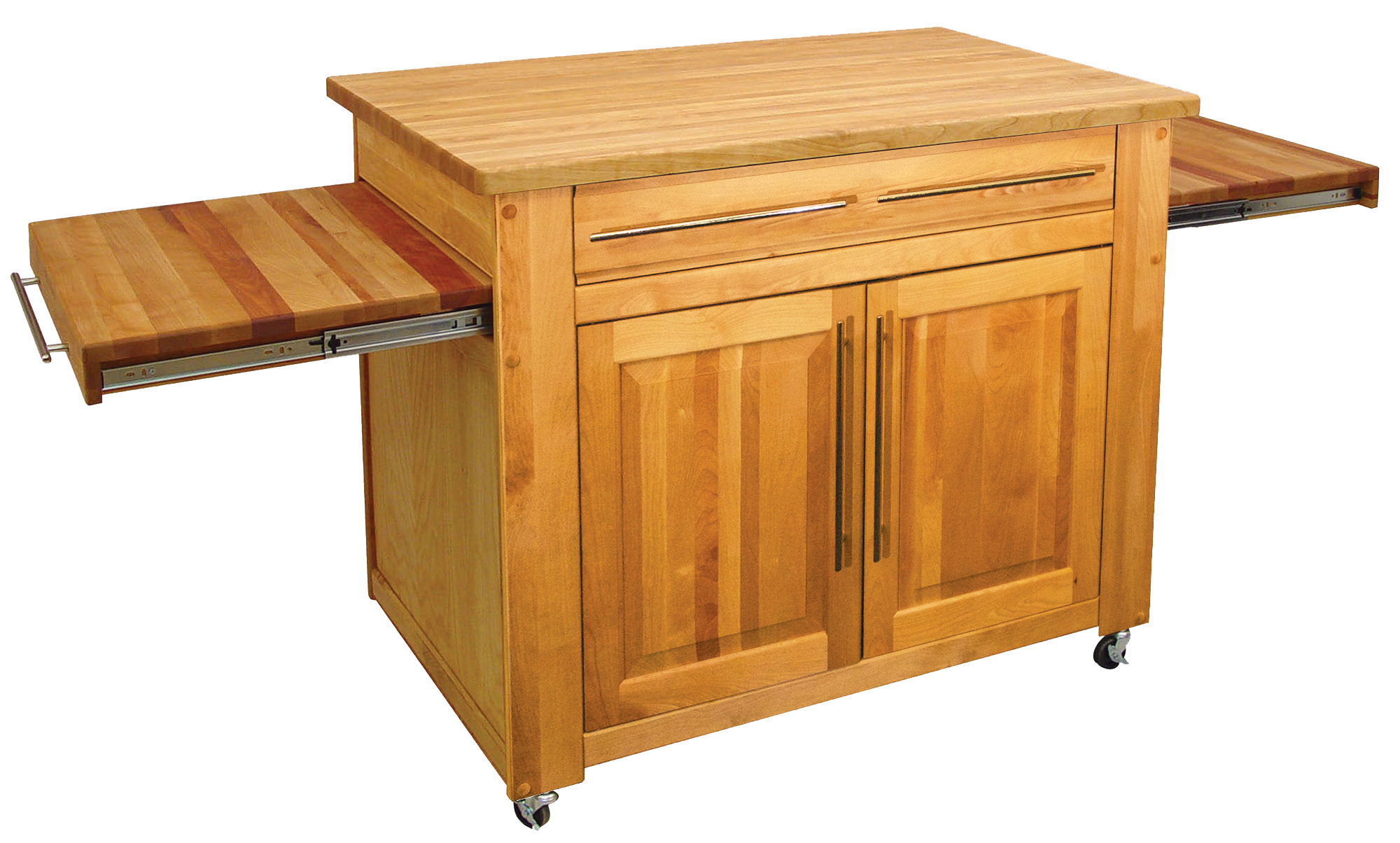 Kitchen Island Butcher Block Tops Catskill Empire Kitchen Island Pull Out Leaves