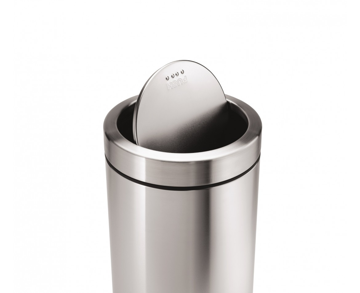 Small Metal Trash Cans With Lids Simplehuman 55l Steel Swing Top Commercial Trash Can