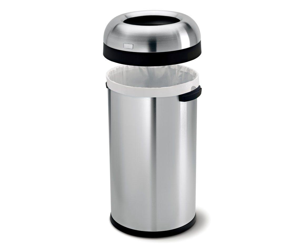60l Mülleimer Simplehuman 60l Steel Bullet Open Commercial Trash Can