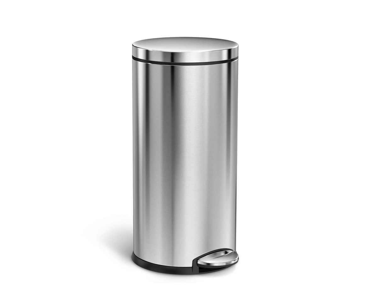 Corner Stainless Steel Trash Can Simplehuman 35l Round Stainless Steel Step Can