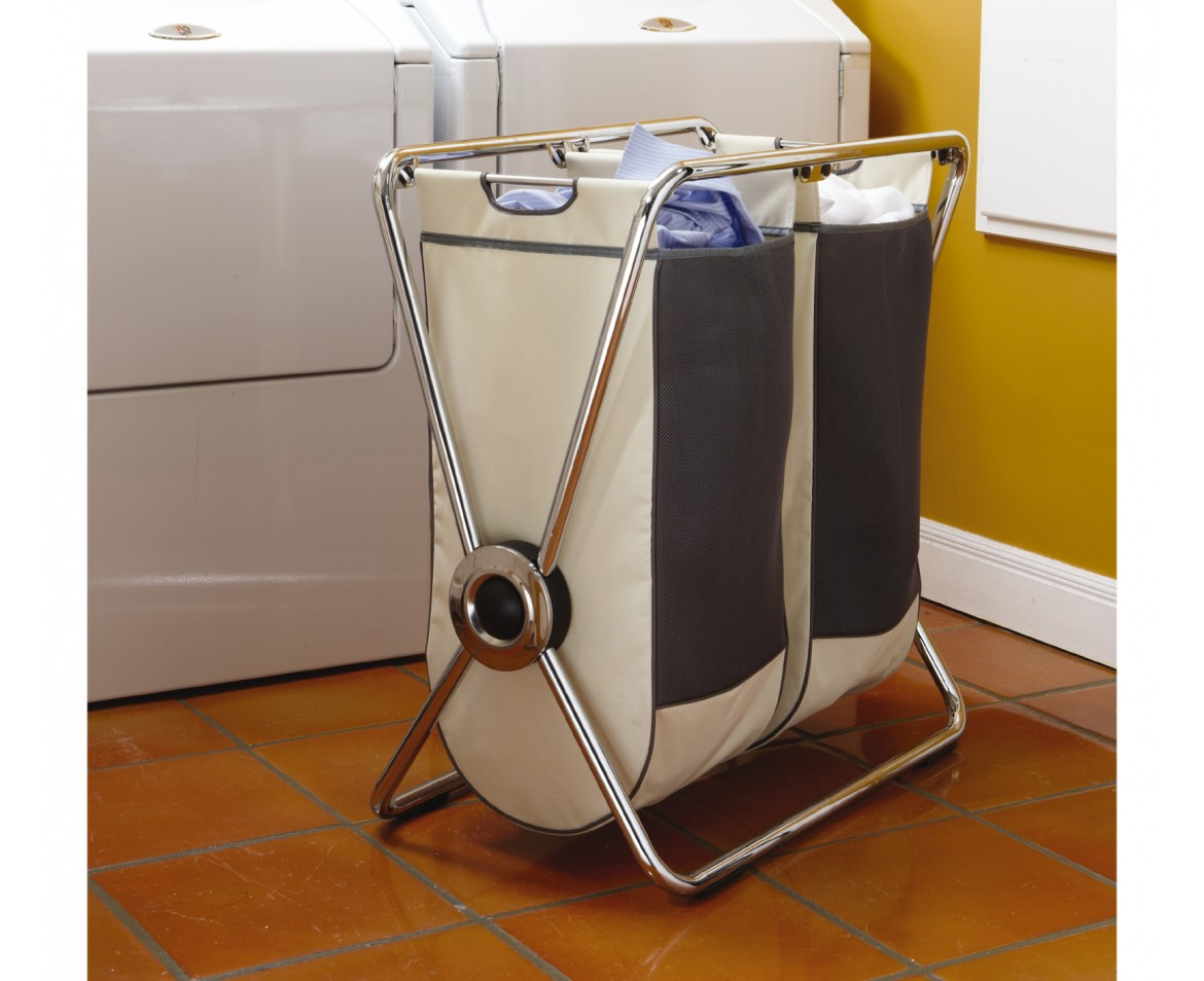 Chrome Laundry Basket Simplehuman Double Chrome Steel X Frame Laundry Hamper
