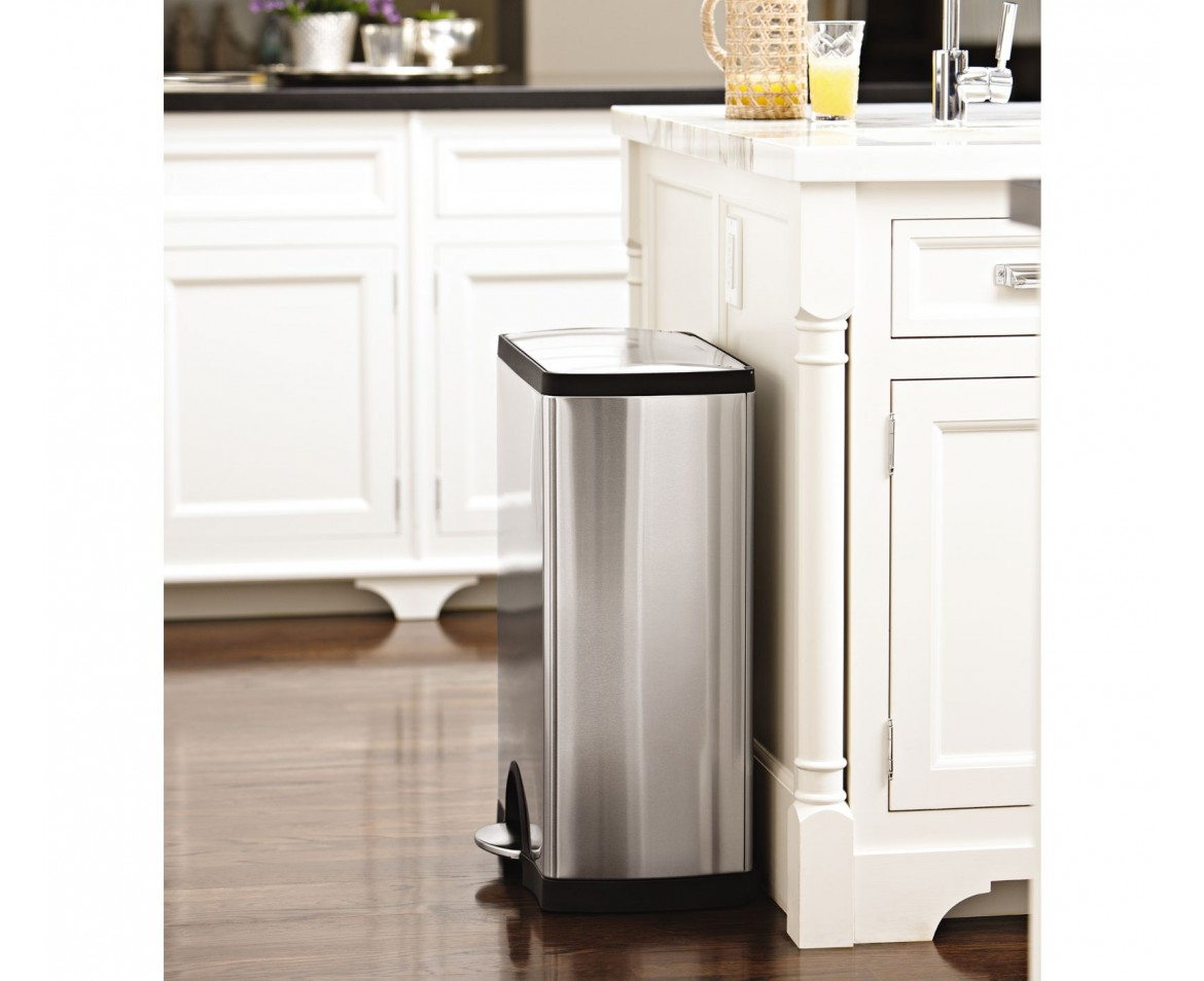 50l Bin Simplehuman 50l Rectangular Stainless Steel Step Trash Can