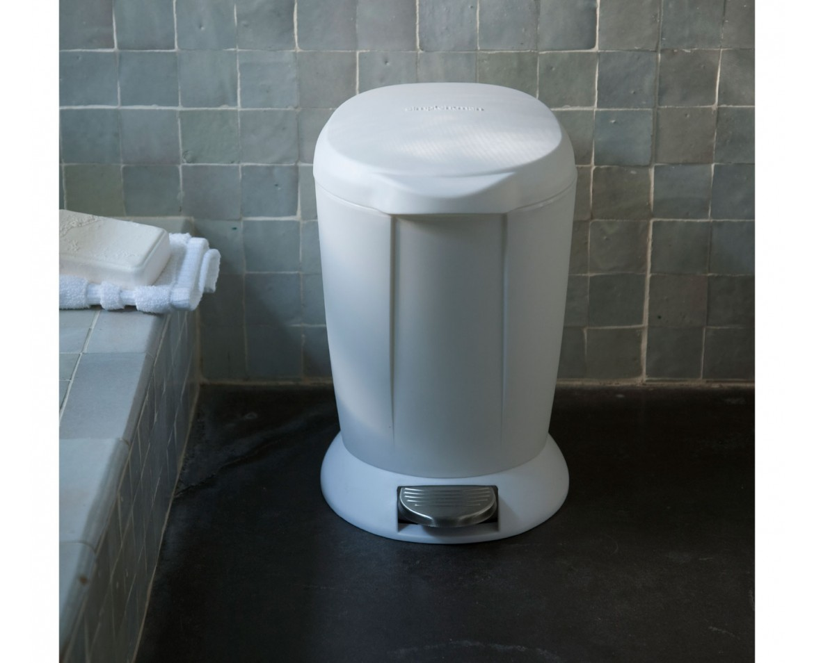 Small Plastic Trash Can Simplehuman 6l Small Round White Plastic Step Trash Can