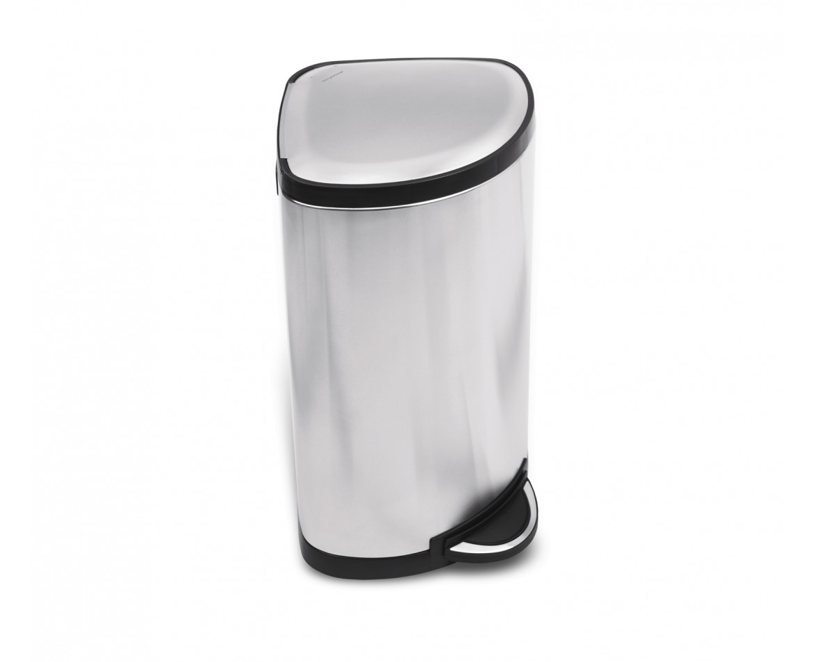 Corner Stainless Steel Trash Can Simplehuman 38 Litre Corner Trash Can Brushed