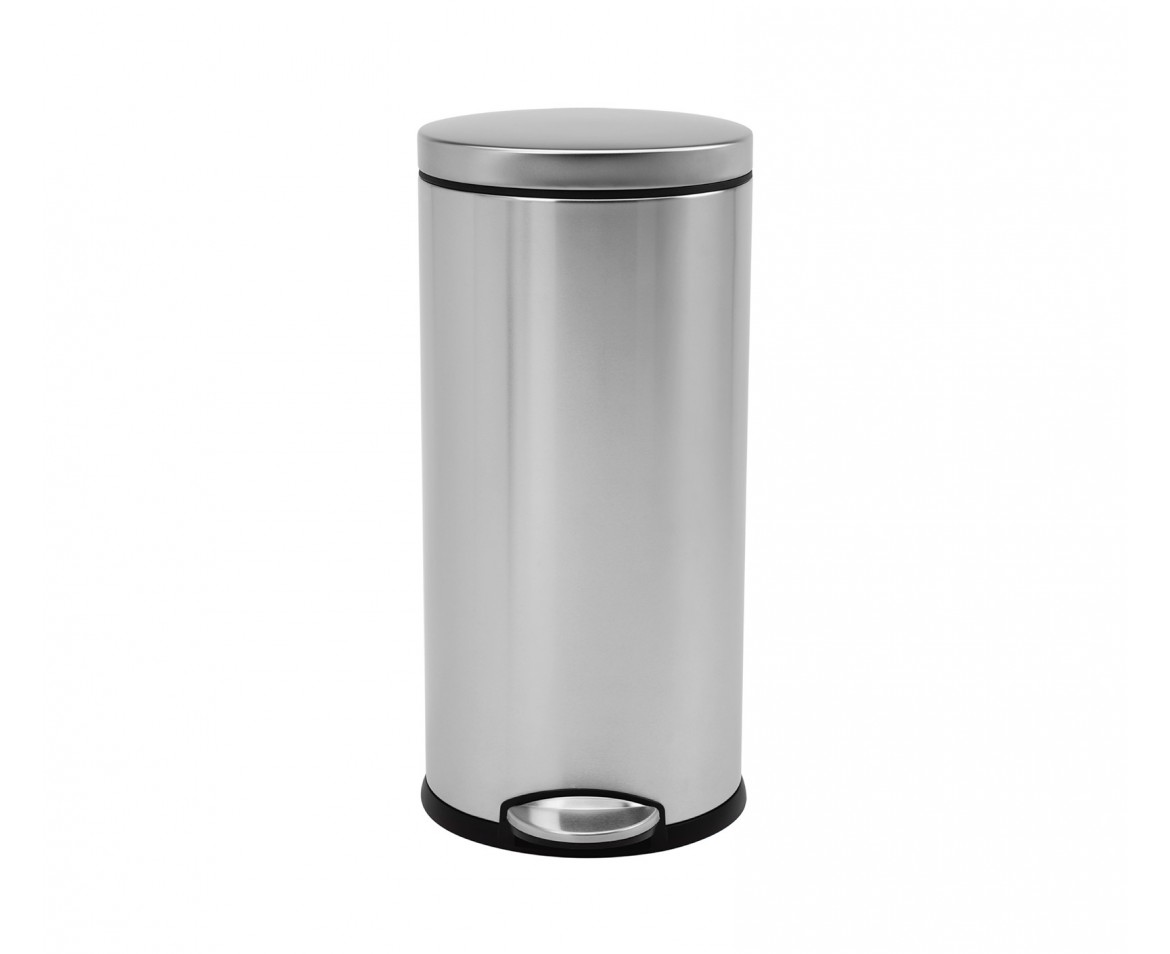 Corner Stainless Steel Trash Can Simplehuman 30 Litre Round Pedal Bin Fingerprint Proof