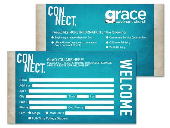 8 Church Connection Card Templates - guest card template
