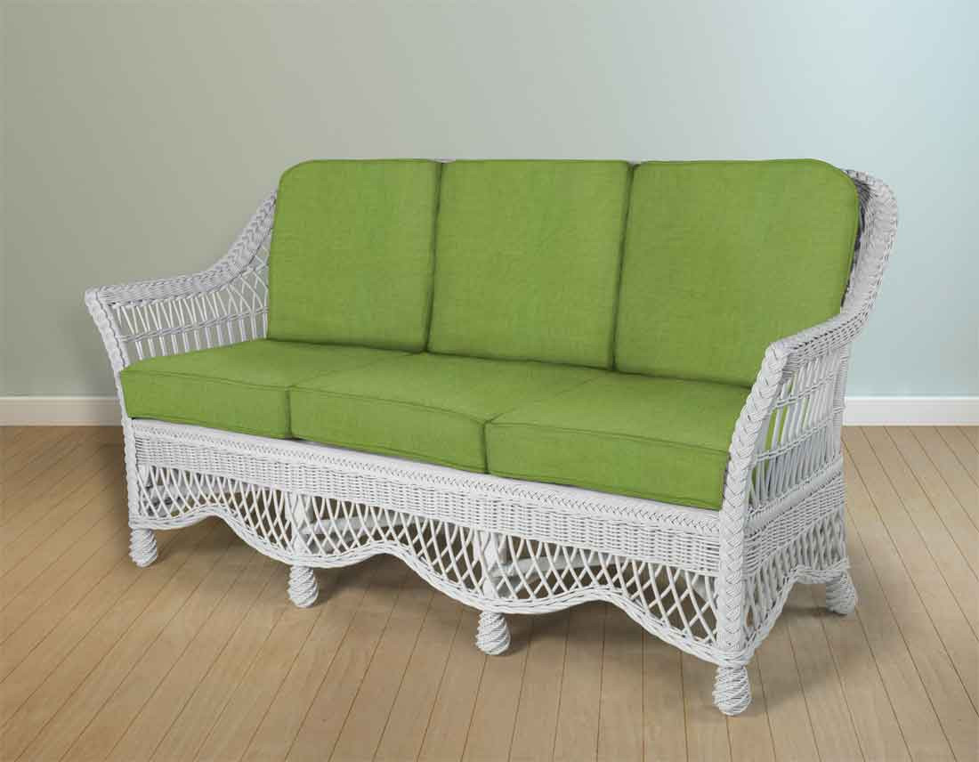 Rattan Sofa Capri Rattan Framed Natural Wicker Sofa