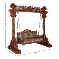 Two Seater Wooden Swing Furniture Handcrafted - 130613 ...