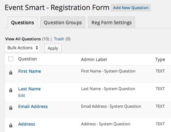 Registration Forms - Event Smart Support