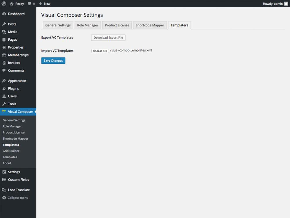 Required - Visual Composer templates (Templatera) - ThemeTrail